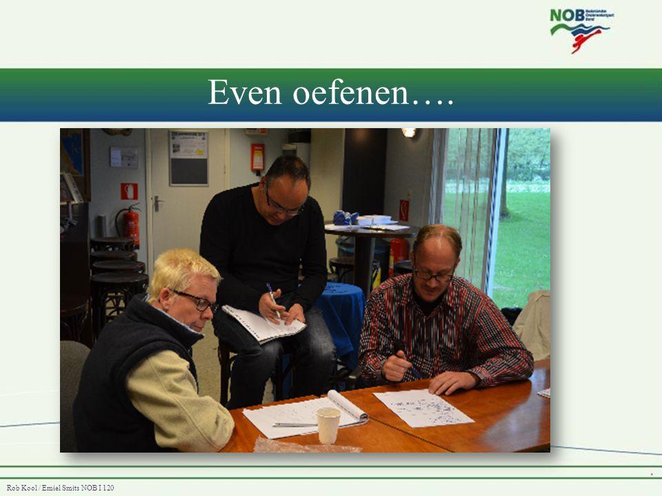 Rob Kool / Emiel Smits NOB I 120 Even oefenen….