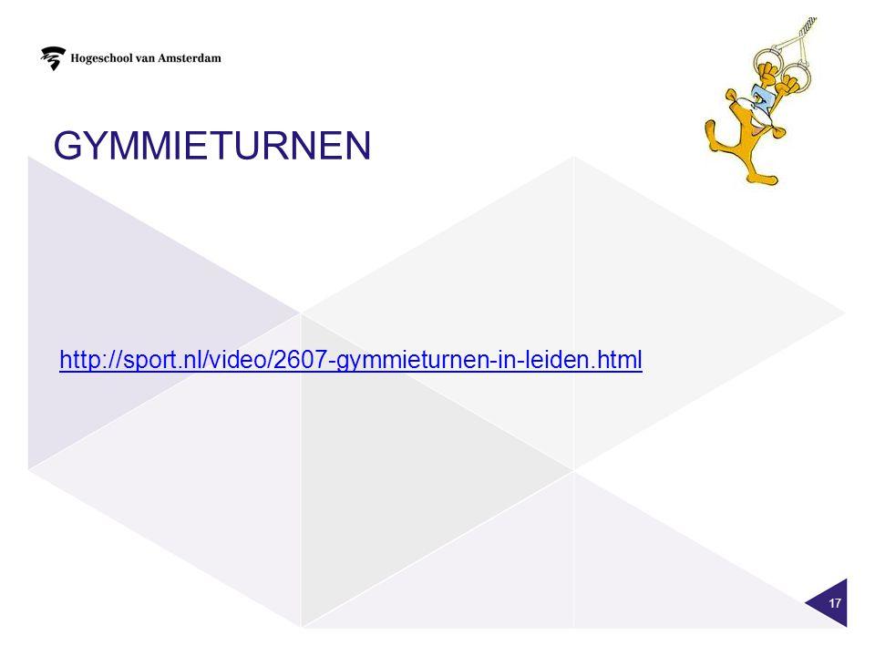 GYMMIETURNEN 17 http://sport.nl/video/2607-gymmieturnen-in-leiden.html