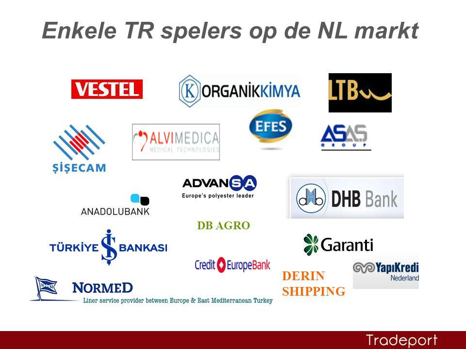 DB AGRO DERIN SHIPPING Enkele TR spelers op de NL markt