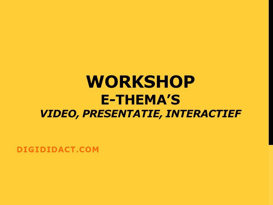 Web 2.0 applicaties in de les Video, presentatie, interactief