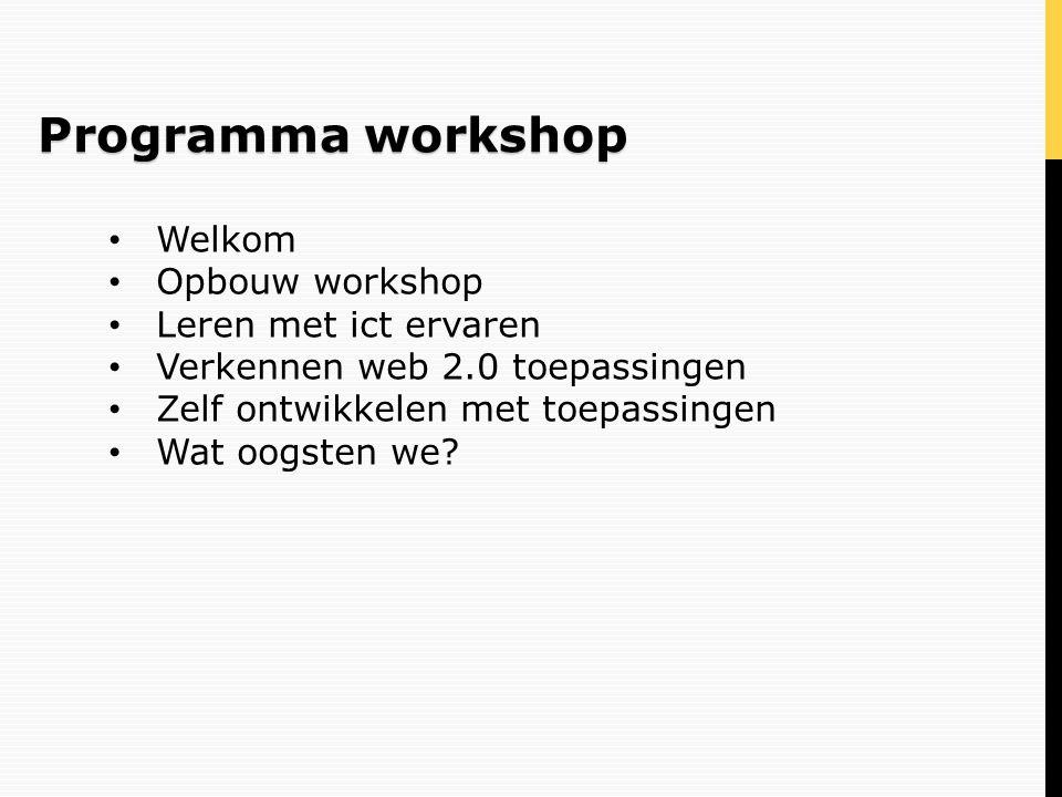 MeVolution (*hyperlink) Opbouw workshop
