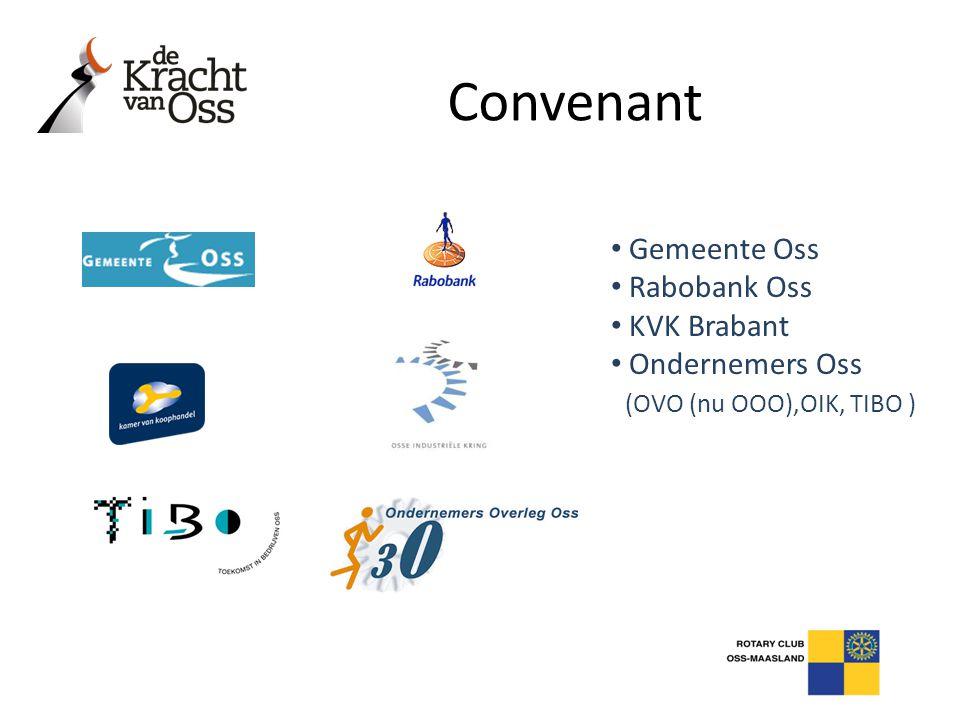 • Gemeente Oss • Rabobank Oss • KVK Brabant • Ondernemers Oss (OVO (nu OOO),OIK, TIBO ) Convenant