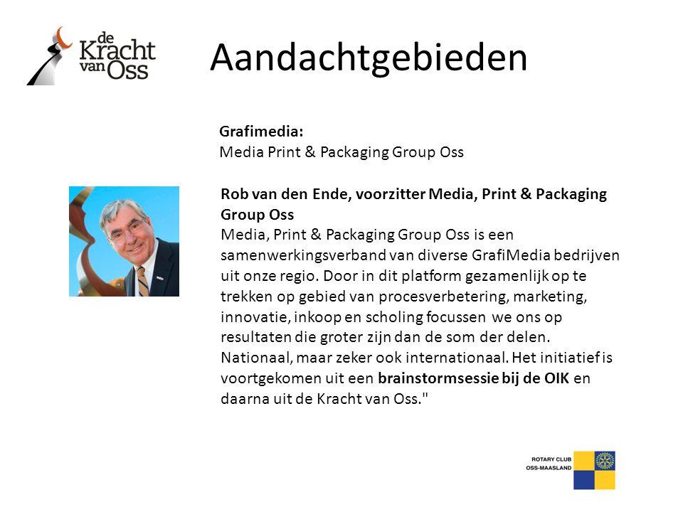 Aandachtgebieden Grafimedia: Media Print & Packaging Group Oss Rob van den Ende, voorzitter Media, Print & Packaging Group Oss Media, Print & Packagin