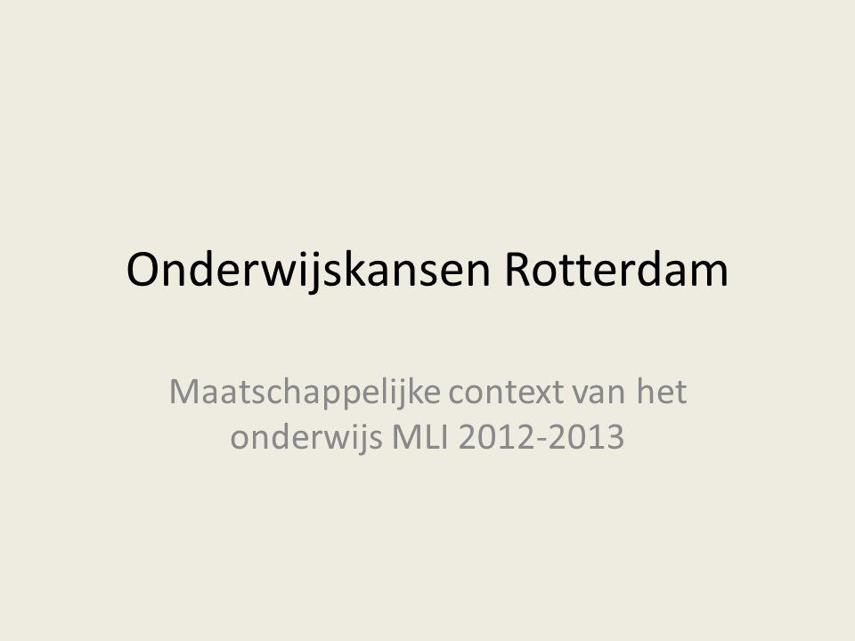 Onderwijskansen Rotterdam Maatschappelijke context van het onderwijs MLI 2012-2013