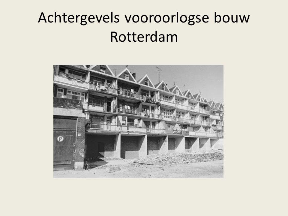 Achtergevels vooroorlogse bouw Rotterdam