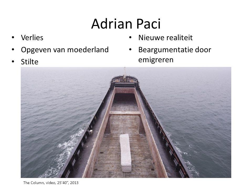 """Adrian Paci • Verlies • Opgeven van moederland • Stilte • Nieuwe realiteit • Beargumentatie door emigreren The Column, video, 25'40"""", 2013"""