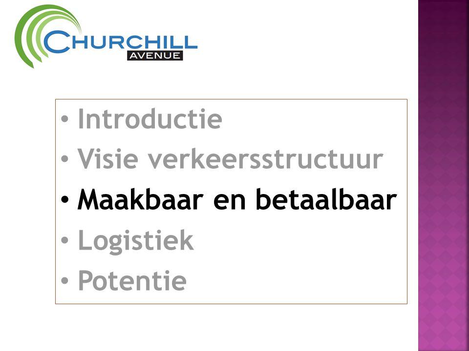 • Introductie • Visie verkeersstructuur • Maakbaar en betaalbaar • Logistiek • Potentie