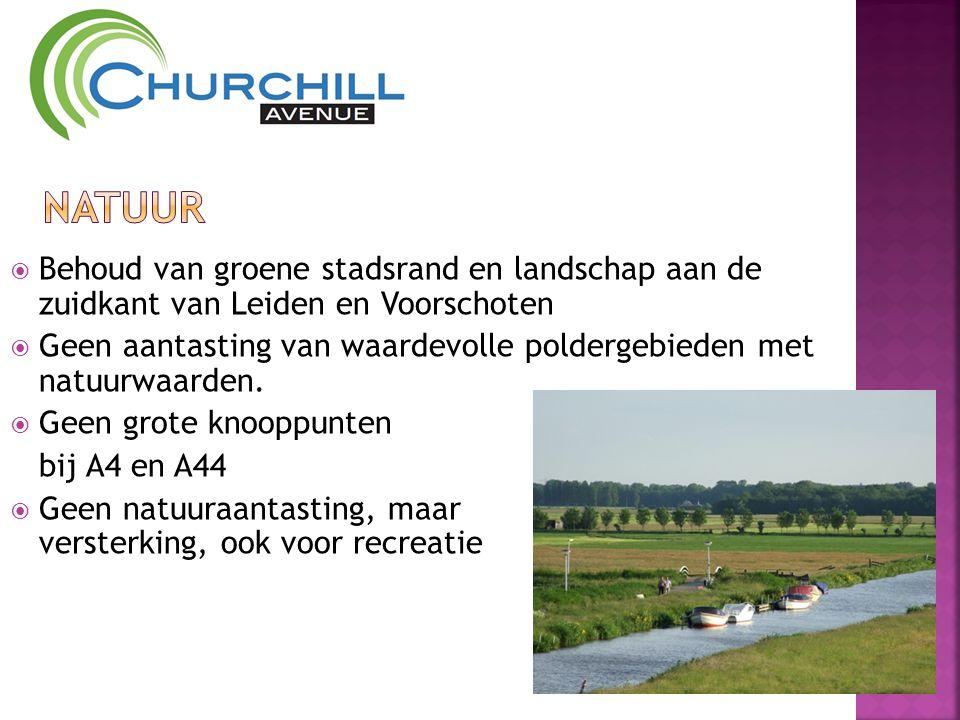  Behoud van groene stadsrand en landschap aan de zuidkant van Leiden en Voorschoten  Geen aantasting van waardevolle poldergebieden met natuurwaarden.