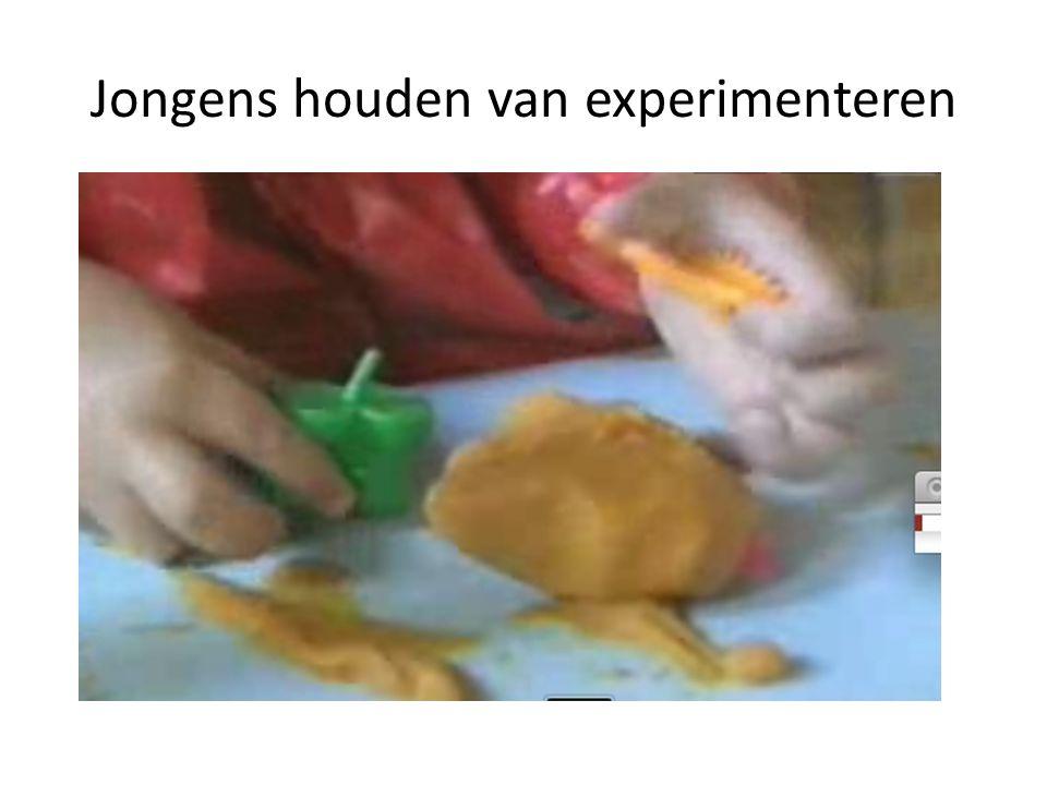 Jongens houden van experimenteren