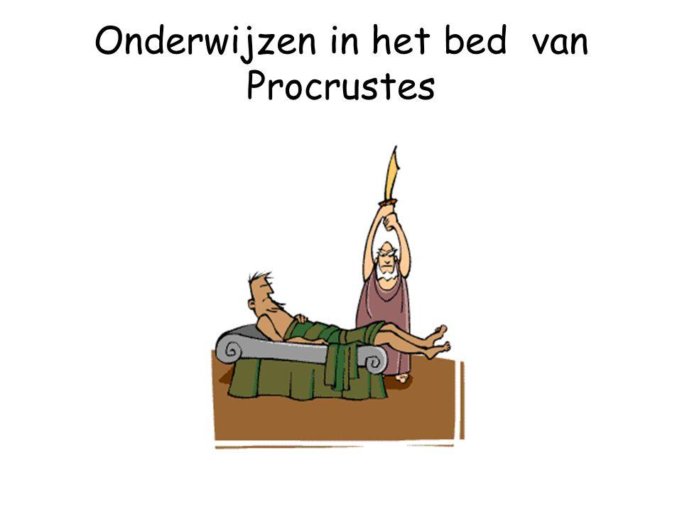 Onderwijzen in het bed van Procrustes