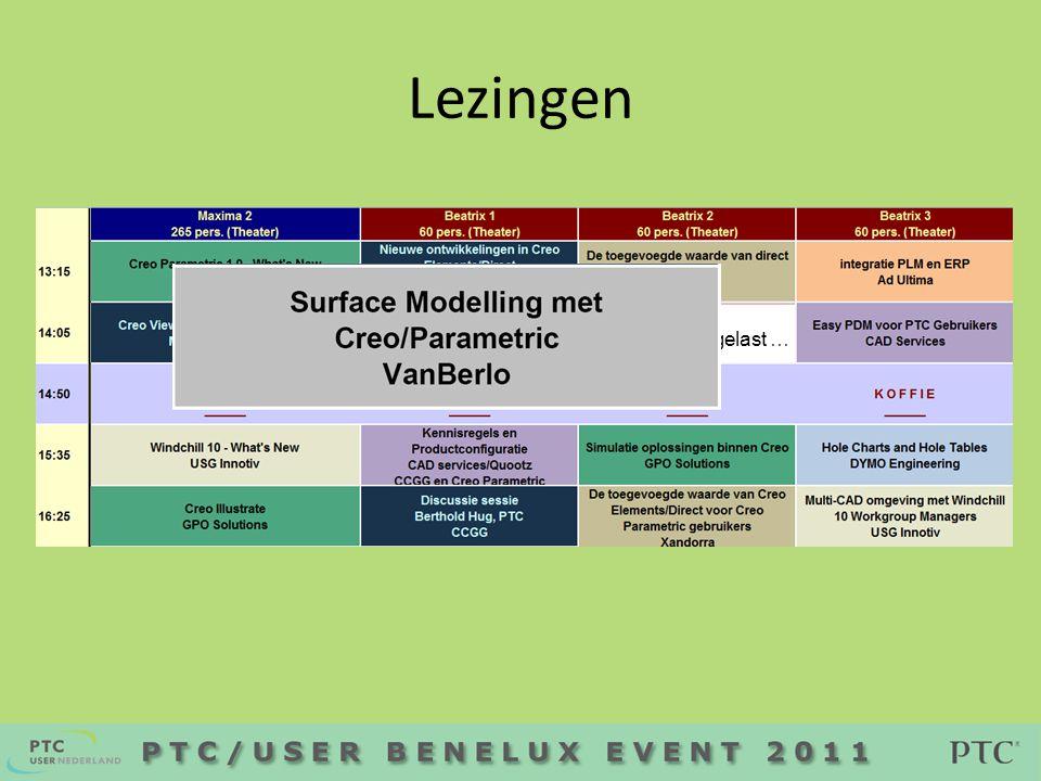 • 17:20 KeyNote presentatie Modesi • 17:45 PTC/AWARD Prijsuitreiking en verloting • 18:00 Borrel €
