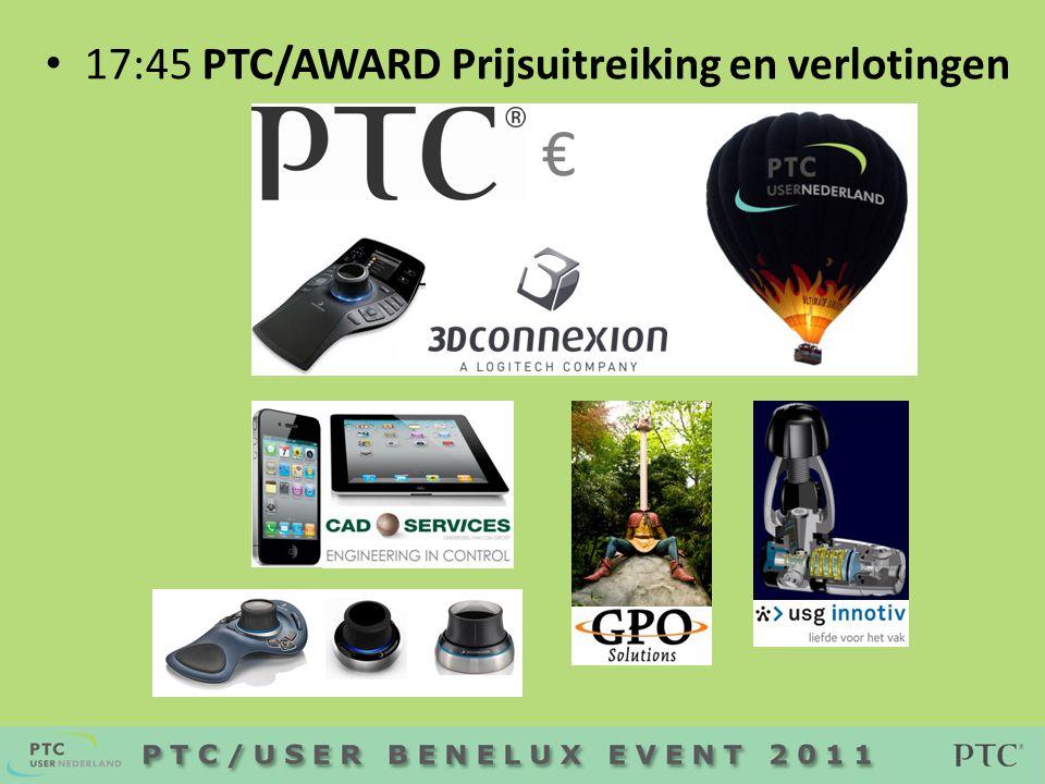 • 17:45 PTC/AWARD Prijsuitreiking en verlotingen €