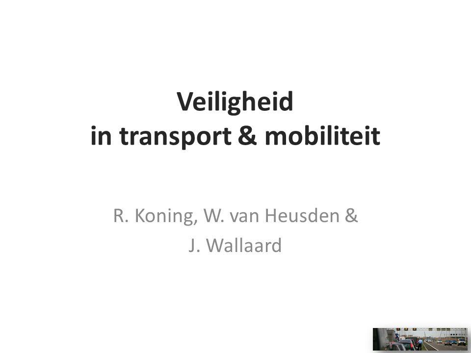 Veiligheid in transport & mobiliteit R. Koning, W. van Heusden & J. Wallaard
