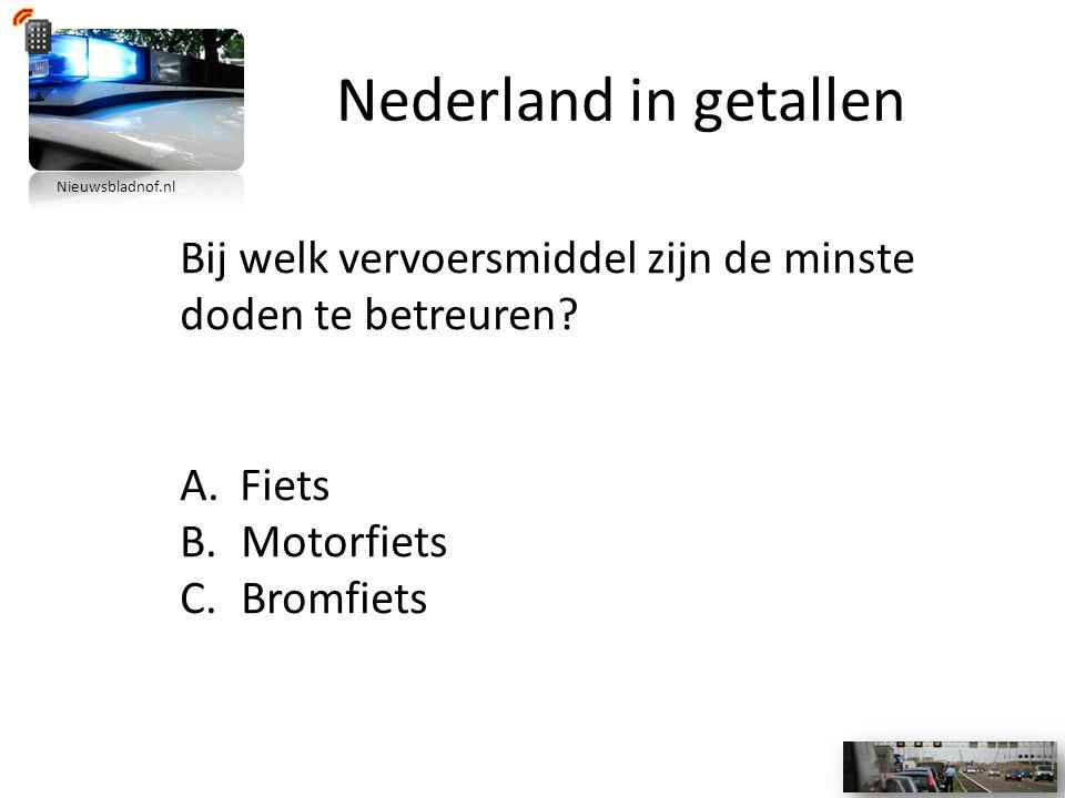 Nederland in getallen Bij welk vervoersmiddel zijn de minste doden te betreuren.