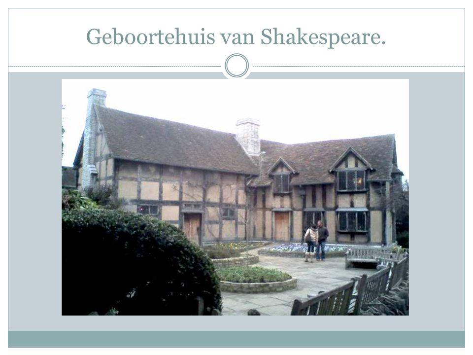 Geboortehuis van Shakespeare.
