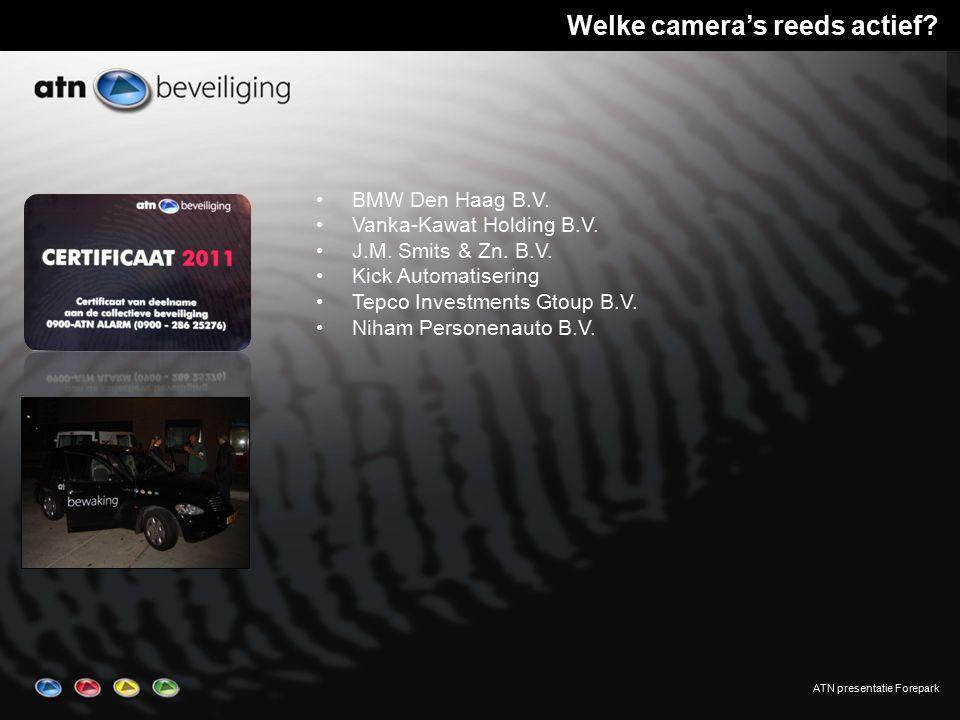 ATN presentatie Forepark Welke camera's reeds actief.