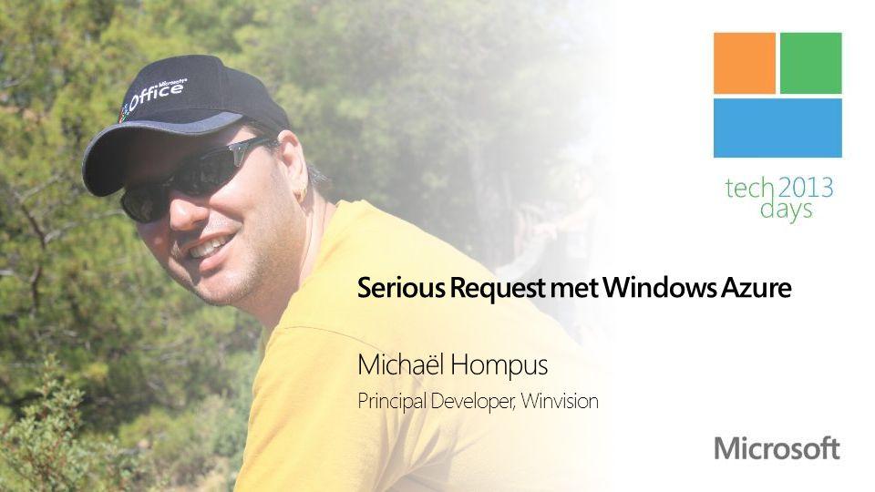 Michaël Hompus Principal Developer bij Winvision Specialisaties zijn SharePoint, Windows 8 Store Apps, Windows Phone 8 en Windows Azure E-mail: michael.hompus@winvision.nlmichael.hompus@winvision.nl Twitter: @eNeRGy164@eNeRGy164 Blog: http://blog.hompus.nlhttp://blog.hompus.nl