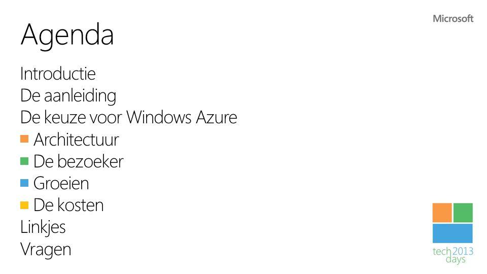Waarom voor Windows Azure kiezen.