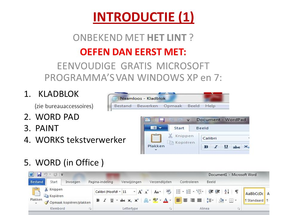 INTRODUCTIE (2) PowerPoint biedt zelf ook als oefening een 'introductie' aan.