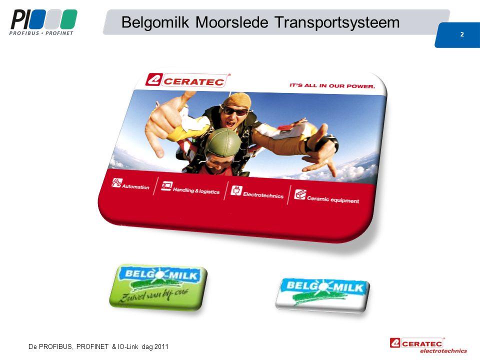 De PROFIBUS, PROFINET & IO-Link dag 2011 Belgomilk Moorslede Transportsysteem 2
