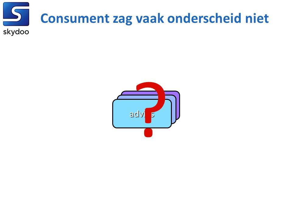 beheer bemiddeling advies ? Consument zag vaak onderscheid niet