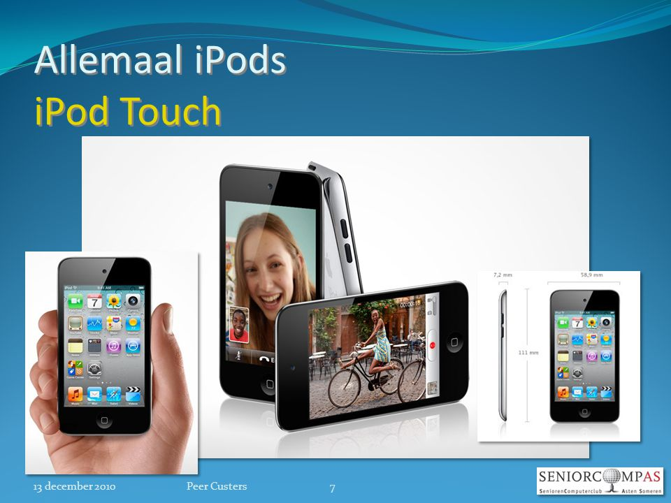 Allemaal iPods iPod Touch 13 december 20107Peer Custers