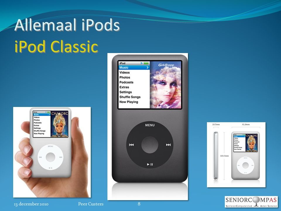 Allemaal iPods iPod Classic 13 december 20108Peer Custers