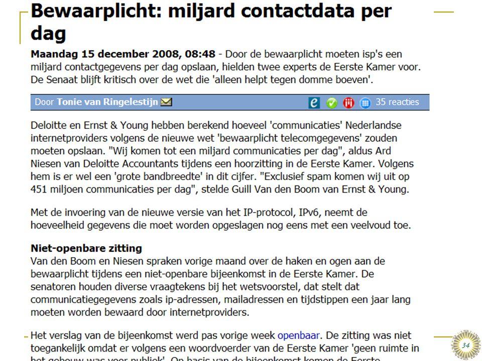 dinsdag 16 december 2008 Het organiseren van data en informatie :: Stair & Reynolds :: H3 34 Over Databases, Internet, en De Wet…  Wat vindt onze ove