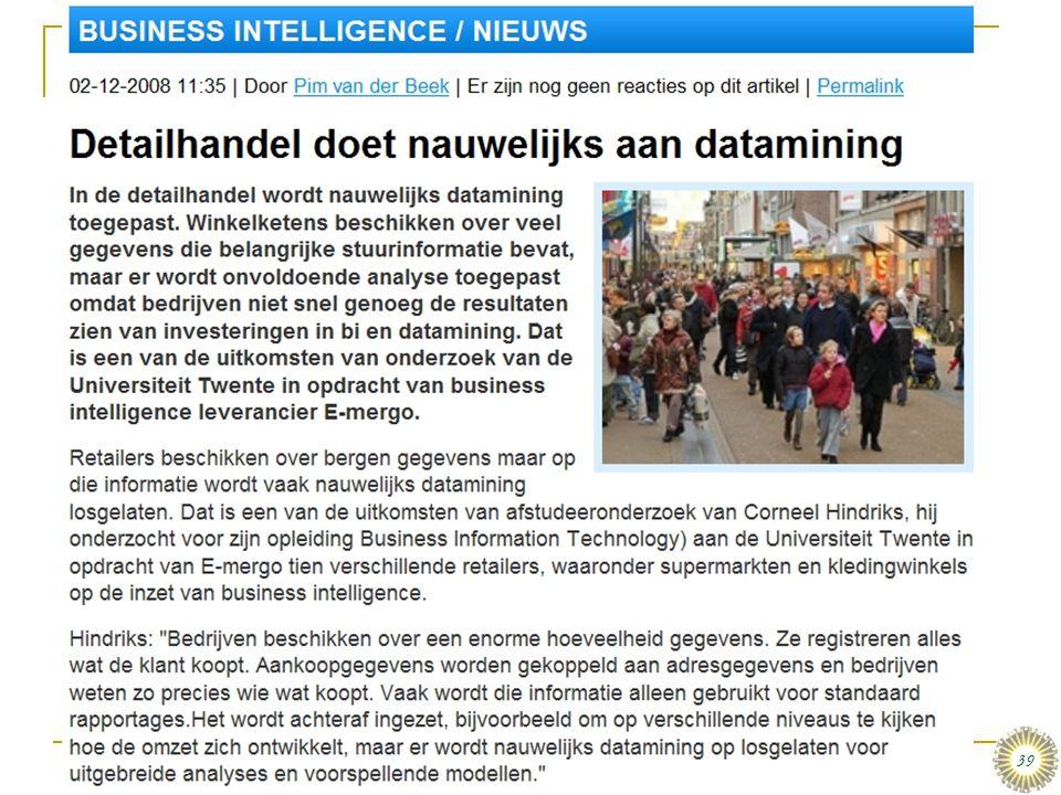 dinsdag 16 december 2008 Het organiseren van data en informatie :: Stair & Reynolds :: H3 39 De Weerbarstige Werkelijkheid…