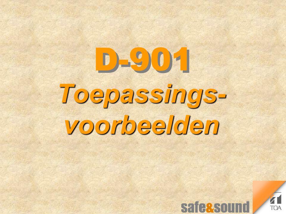 D-901 Toepassings- voorbeelden