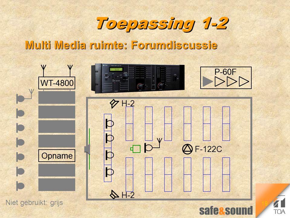 19 P-60F WT-4800 CD DVD Tape Video PC Opname Toepassing 1-2 Multi Media ruimte: Forumdiscussie H-2 F-122C P-60F WT-4800 Opname WT-4800 CD DVD Tape Vid