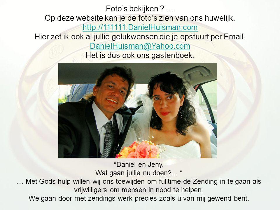 Foto's bekijken .… Op deze website kan je de foto's zien van ons huwelijk.