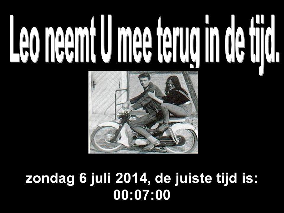 zondag 6 juli 2014, de juiste tijd is: 00:08:36