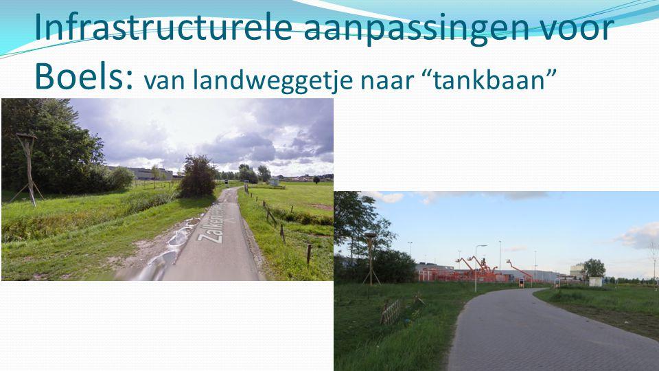 """Infrastructurele aanpassingen voor Boels: van landweggetje naar """"tankbaan"""""""