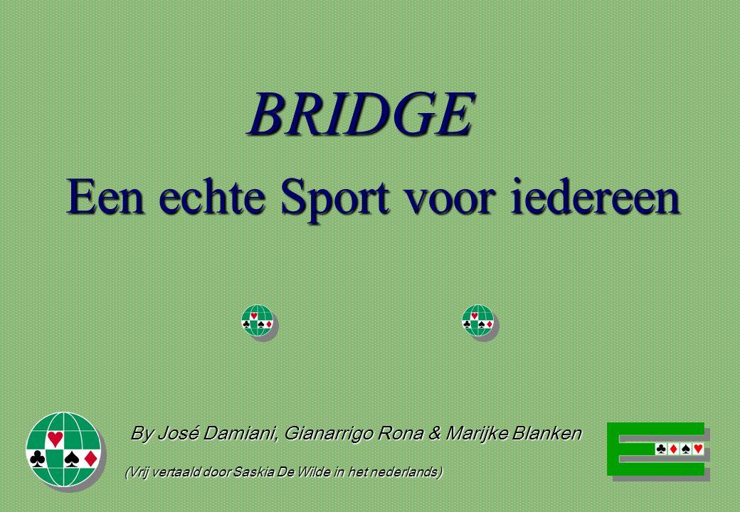 BRIDGE Een echte Sport voor iedereen By José Damiani, Gianarrigo Rona & Marijke Blanken (Vrij vertaald door Saskia De Wilde in het nederlands)