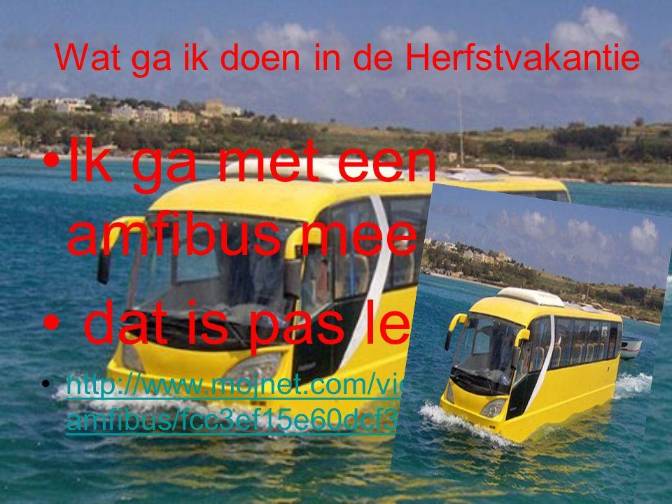 Wat ga ik doen in de Herfstvakantie •I•Ik ga met een amfibus mee • dat is pas leuk •h•http://www.mojnet.com/video-testirali- amfibus/fcc3ef15e60dcf3dd
