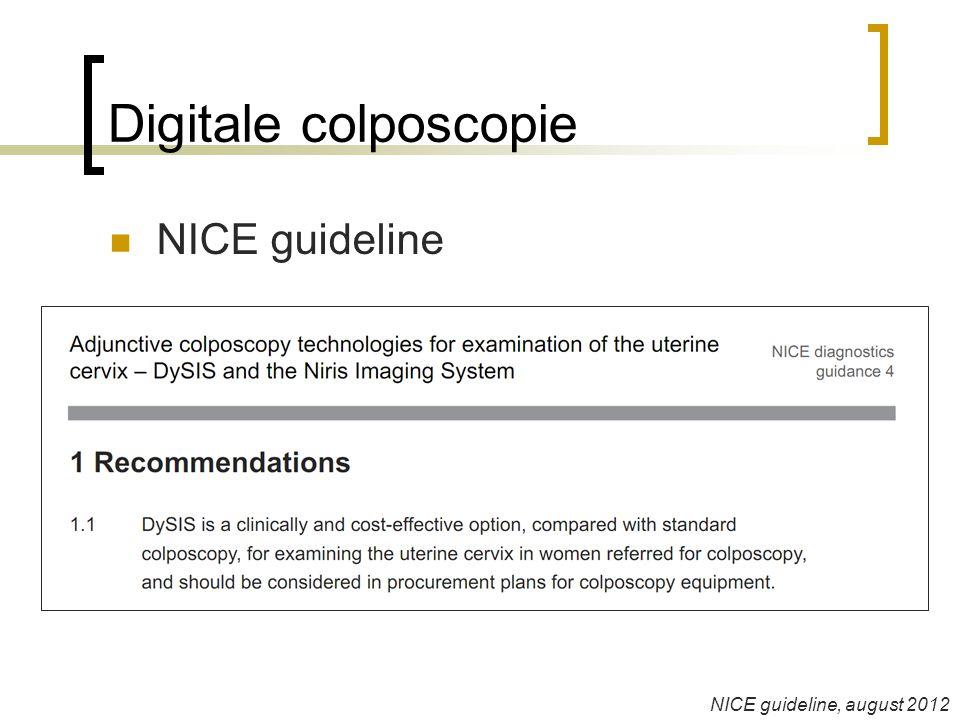Digitale colposcopie  NICE guideline NICE guideline, august 2012