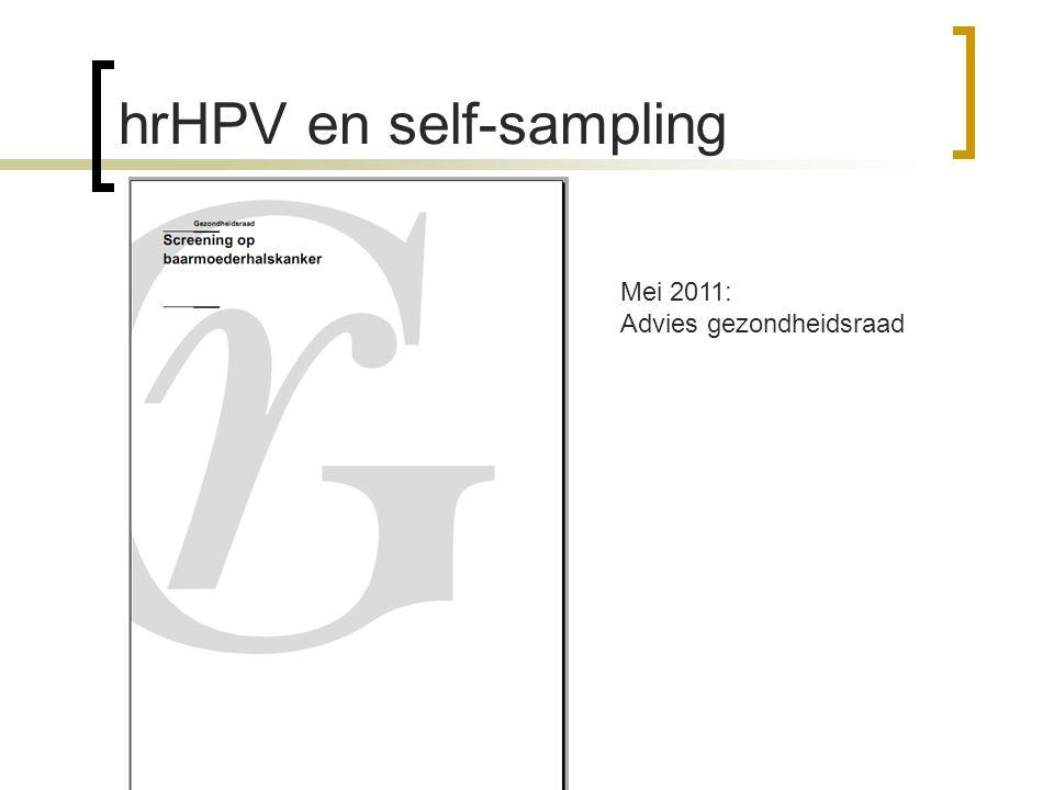 hrHPV en self-sampling Mei 2011: Advies gezondheidsraad