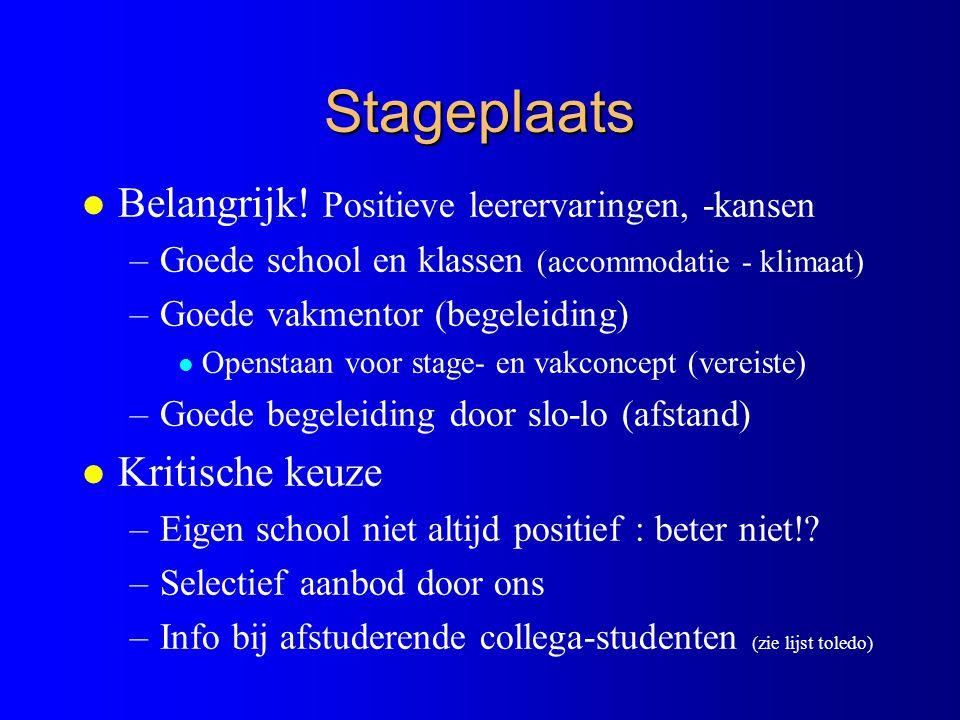Stageplaats l Belangrijk.