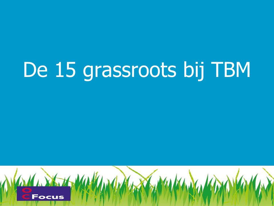 De 15 grassroots bij TBM