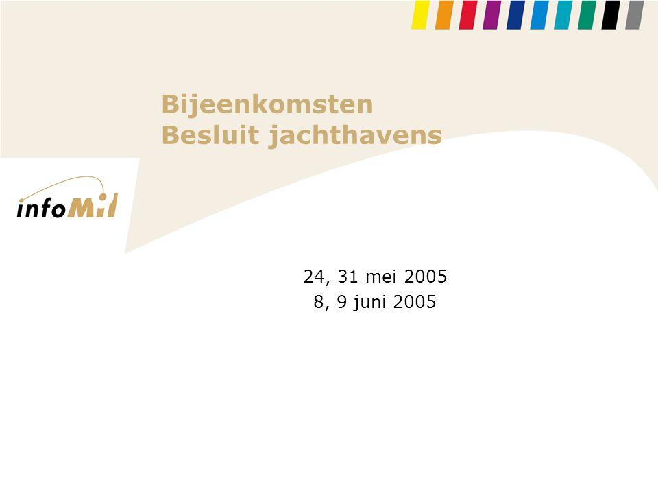 Bijeenkomsten Besluit jachthavens 24, 31 mei 2005 8, 9 juni 2005