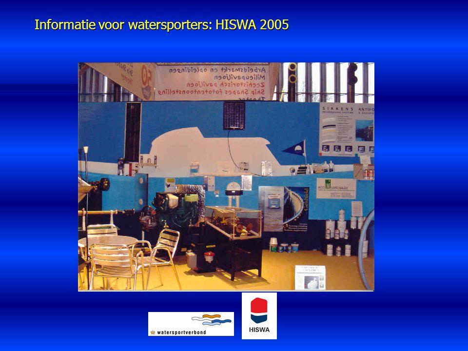 Informatie voor watersporters: HISWA 2005