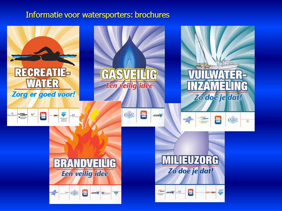 Informatie voor watersporters: brochures