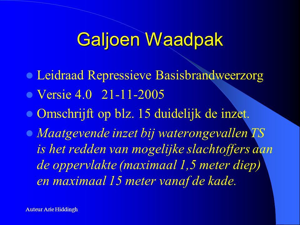 Auteur Arie Hiddingh Galjoen Waadpak  Leidraad Repressieve Basisbrandweerzorg  Versie 4.0 21-11-2005  Omschrijft op blz. 15 duidelijk de inzet.  M