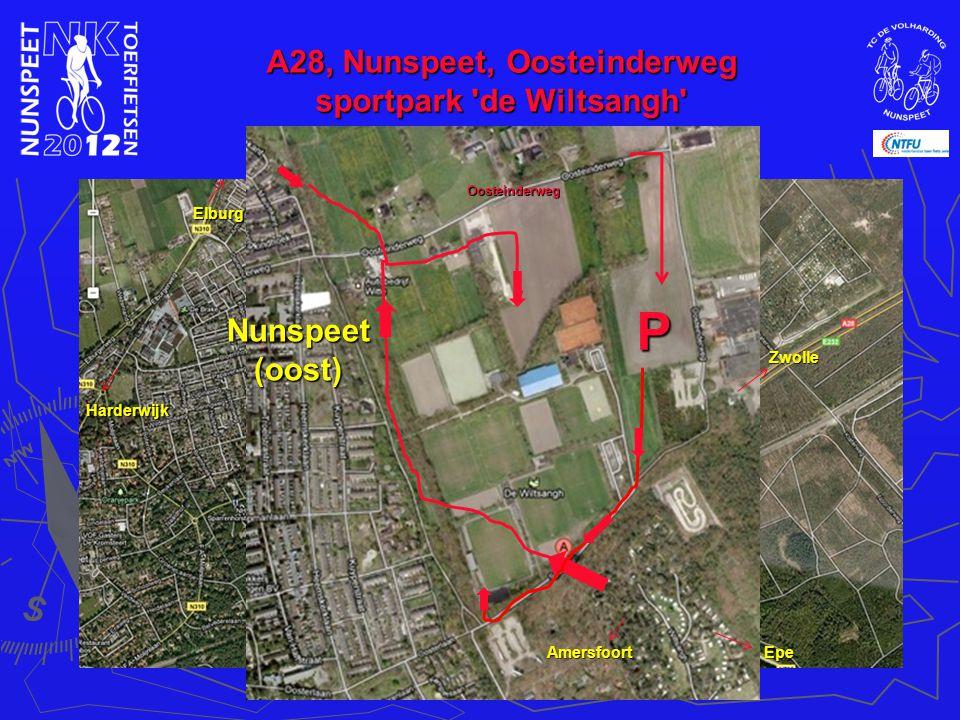 A28, Nunspeet, Oosteinderweg sportpark de Wiltsangh Nunspeet(oost) Elburg Zwolle AmersfoortEpe Harderwijk Oosteinderweg P