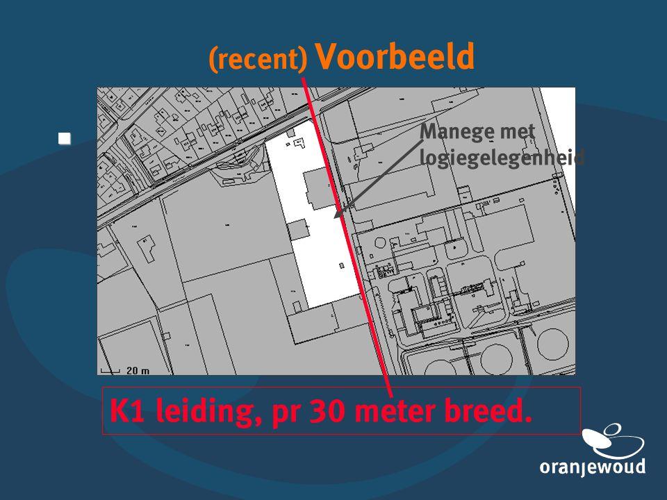 (recent) Voorbeeld  K1 leiding, pr 30 meter breed. Manege met logiegelegenheid