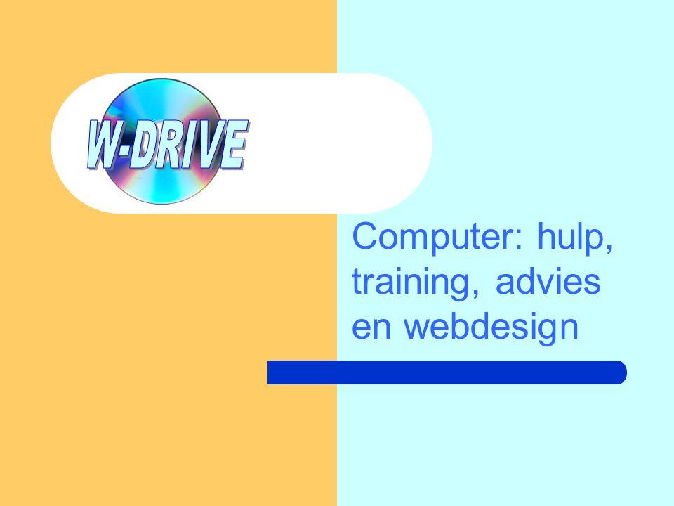 Computer: hulp, training, advies en webdesign