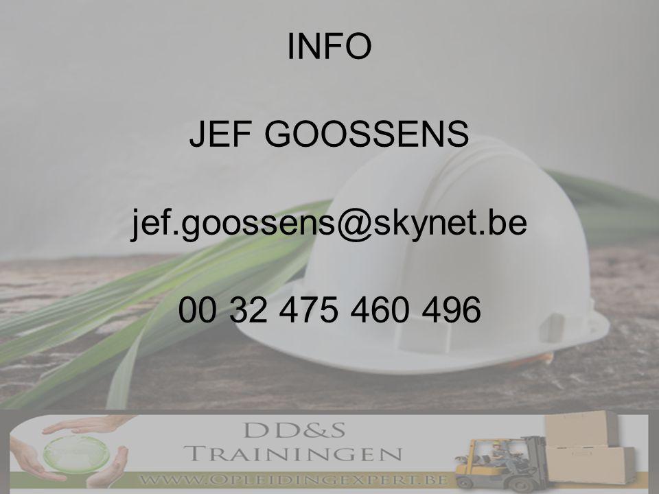 INFO JEF GOOSSENS jef.goossens@skynet.be 00 32 475 460 496