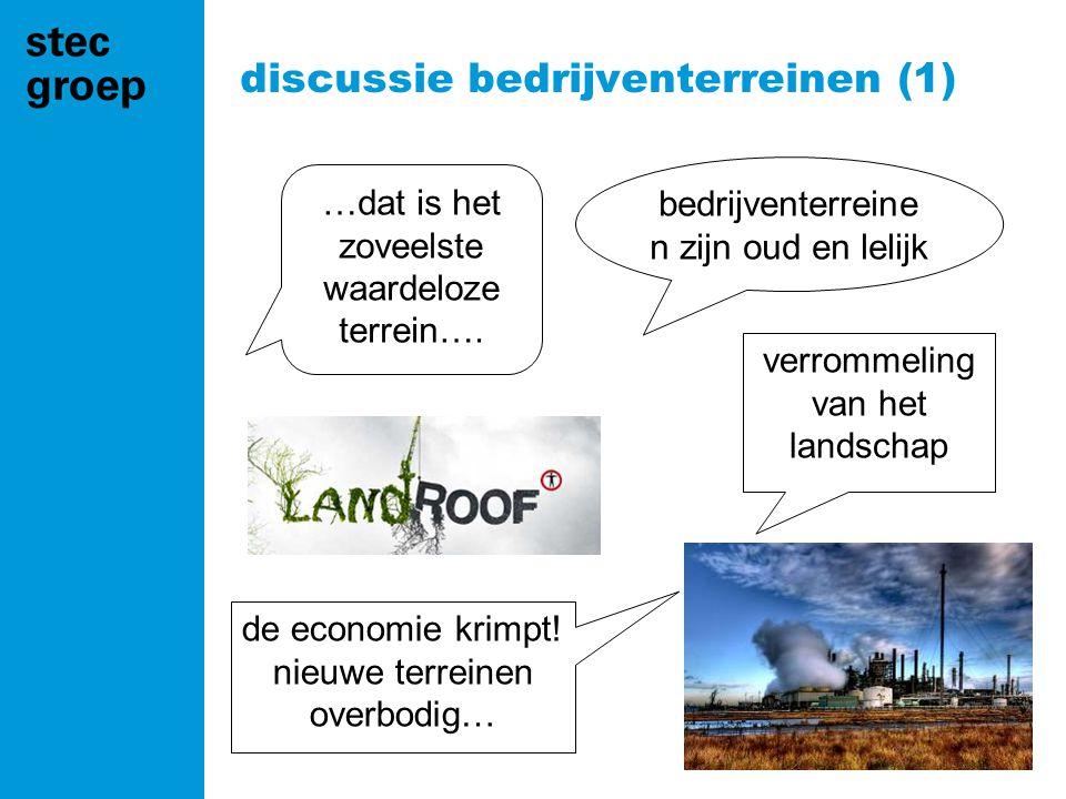 discussie bedrijventerreinen (1) bedrijventerreine n zijn oud en lelijk …dat is het zoveelste waardeloze terrein….