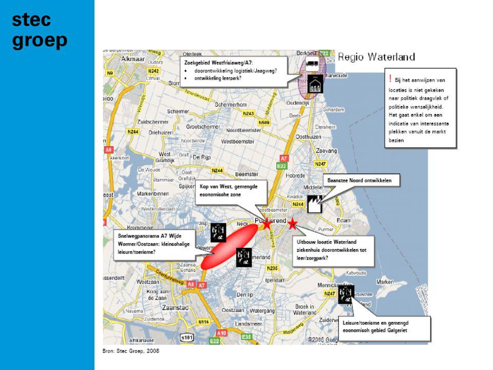 te zetten stappen •Stel regionale bedrijventerreinenvisie op •Zet pilots nieuwe werkllocaties op •Ontwikkel Baanstee Noord.